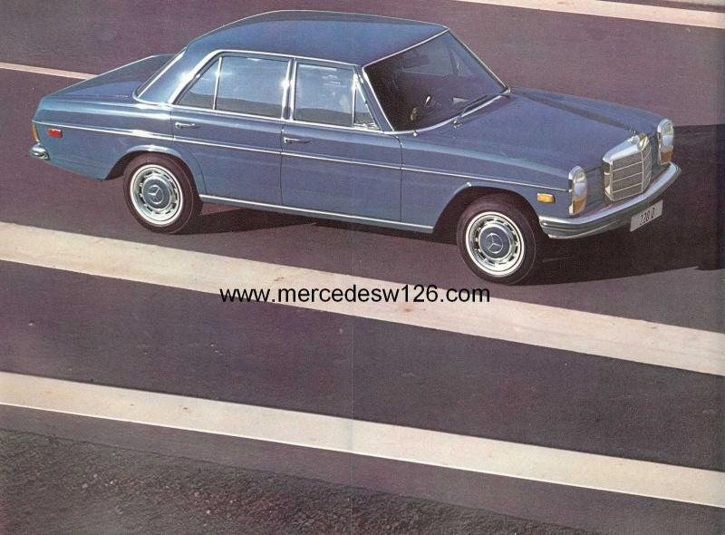 Catalogue de 1971 sur les Mercedes W114 & W115 version US W114_u16