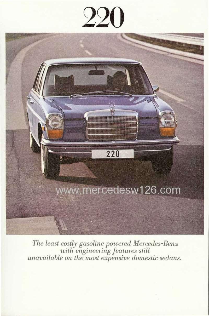 Catalogue de 1971 sur les Mercedes W114 & W115 version US W114_u17