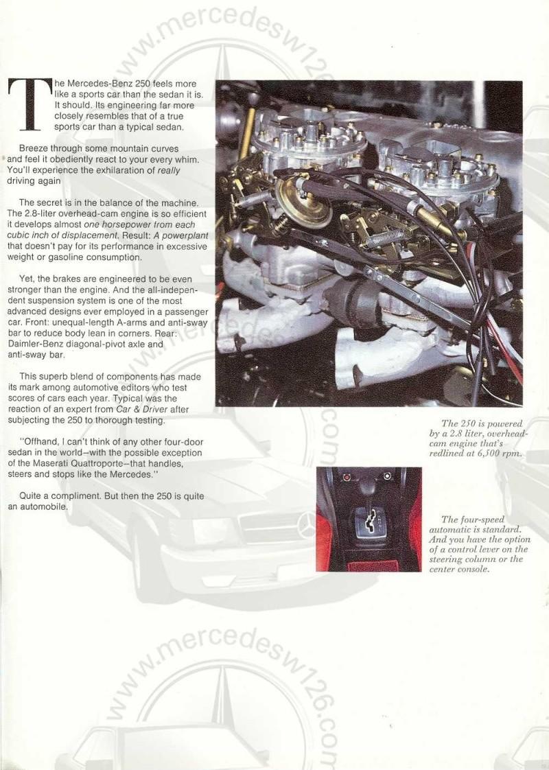 Catalogue de 1971 sur les Mercedes W114 & W115 version US W114_u19