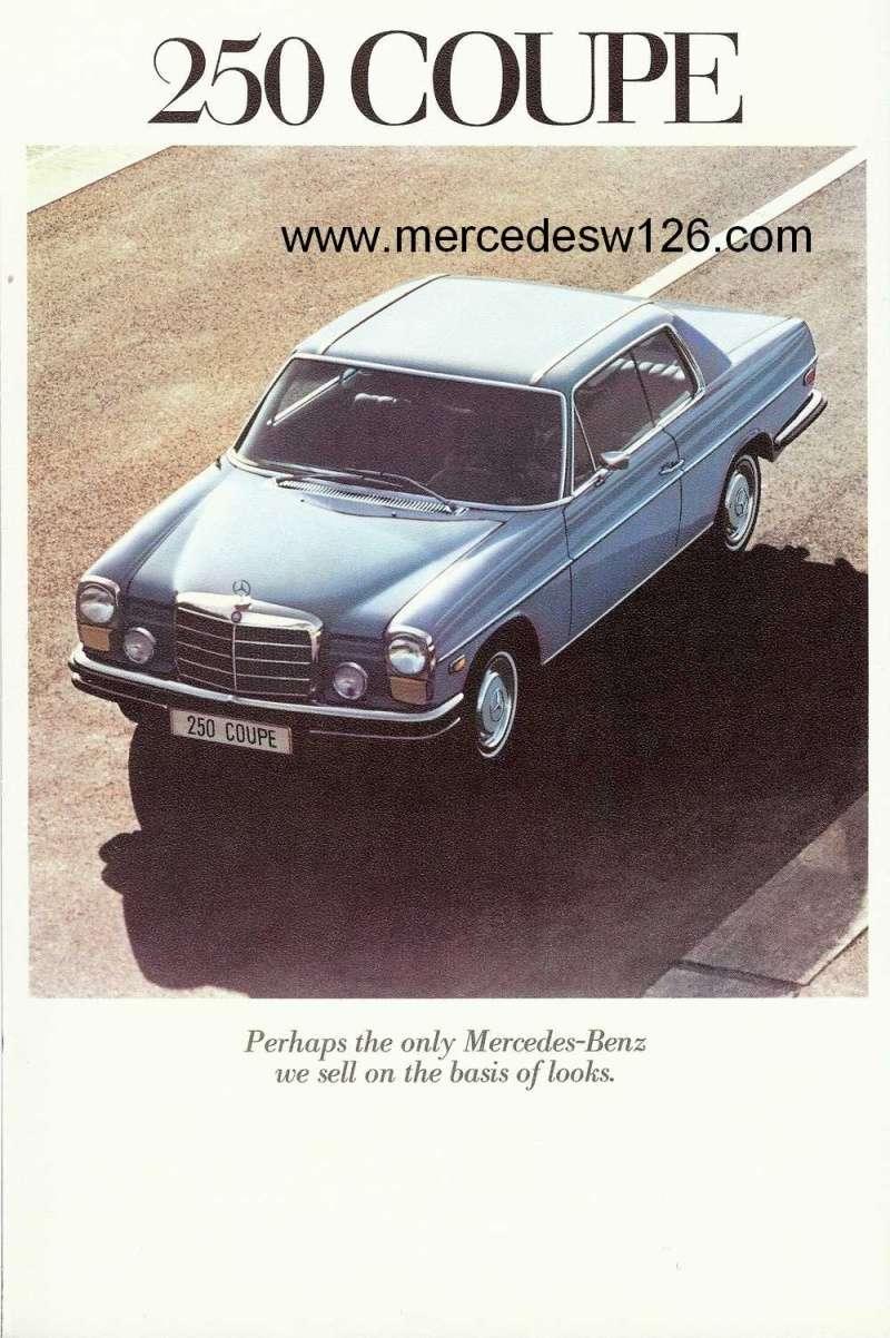 Catalogue de 1971 sur les Mercedes W114 & W115 version US W114_u21