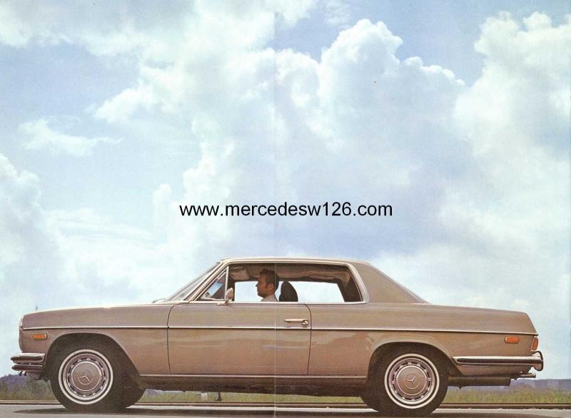 Catalogue de 1971 sur les Mercedes W114 & W115 version US W114_u22