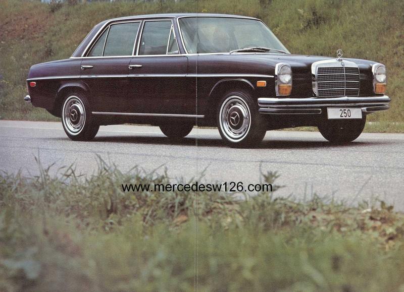 Catalogue de 1971 sur les Mercedes W114 & W115 version US W114_u23