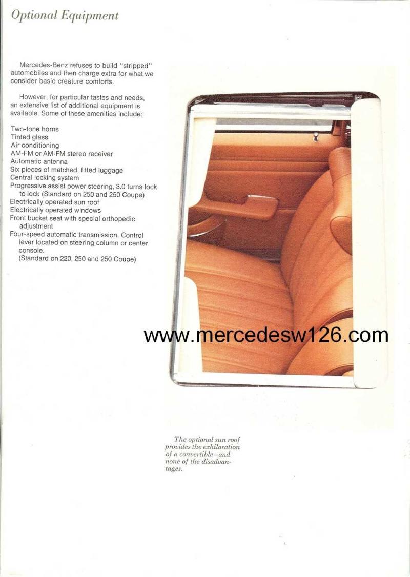 Catalogue de 1971 sur les Mercedes W114 & W115 version US W114_u24