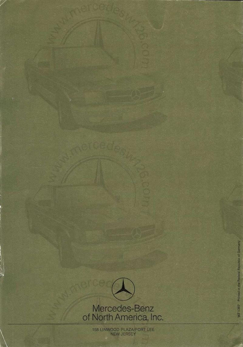 Catalogue de 1971 sur les Mercedes W114 & W115 version US W114_u27