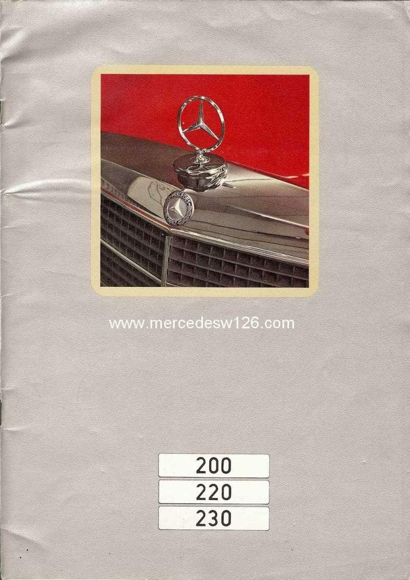Catalogue de 1972 sur les W115 200 220 230 W115_115