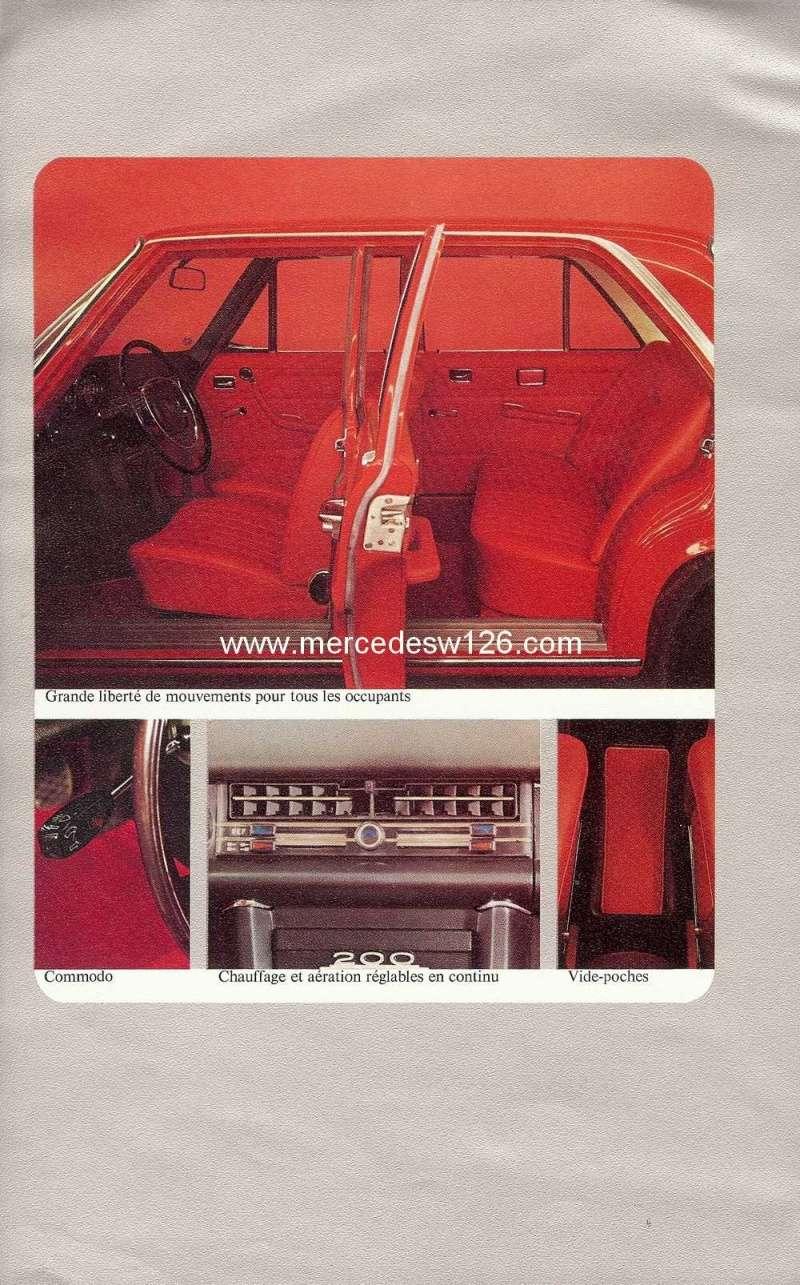 Catalogue de 1972 sur les W115 200 220 230 W115_124