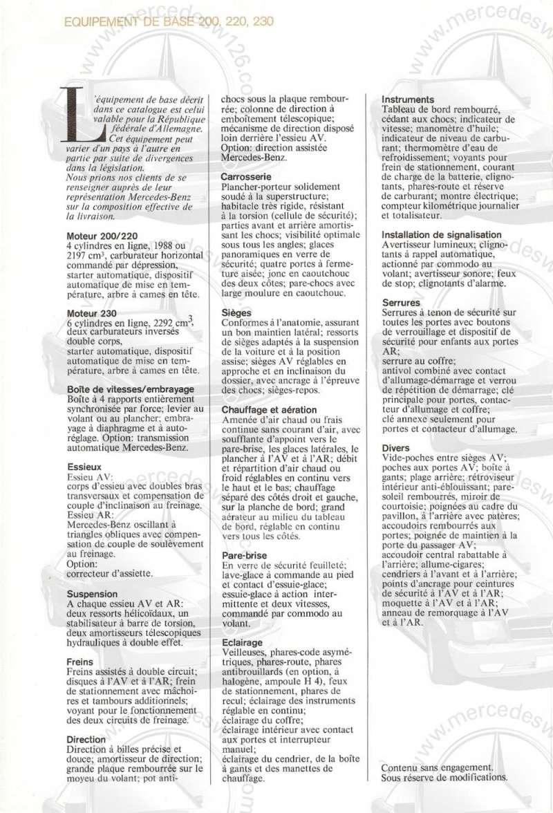 Catalogue de 1972 sur les W115 200 220 230 W115_130