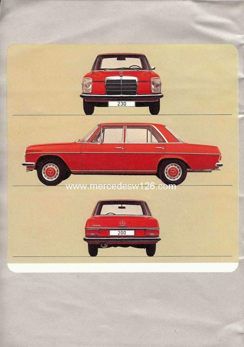Catalogue de 1972 sur les W115 200 220 230 W115_132