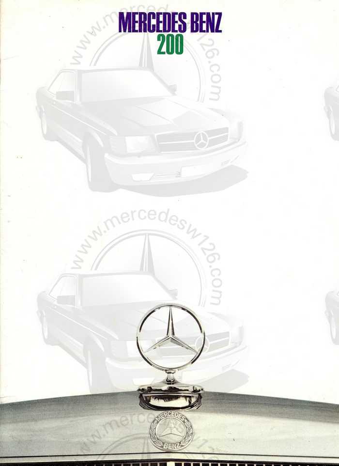 Catalogue de 1968 sur la Mercedes W115 200 W115_210