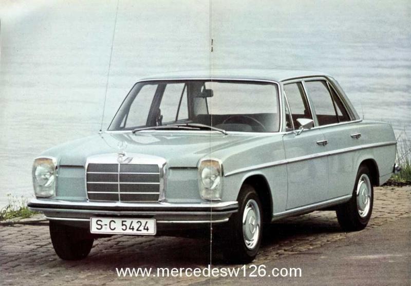 Catalogue de 1968 sur la Mercedes W115 200 W115_212