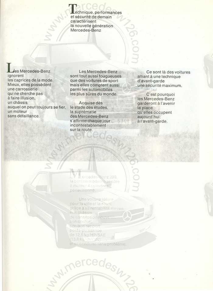 Catalogue de 1968 sur la Mercedes W115 200 W115_213