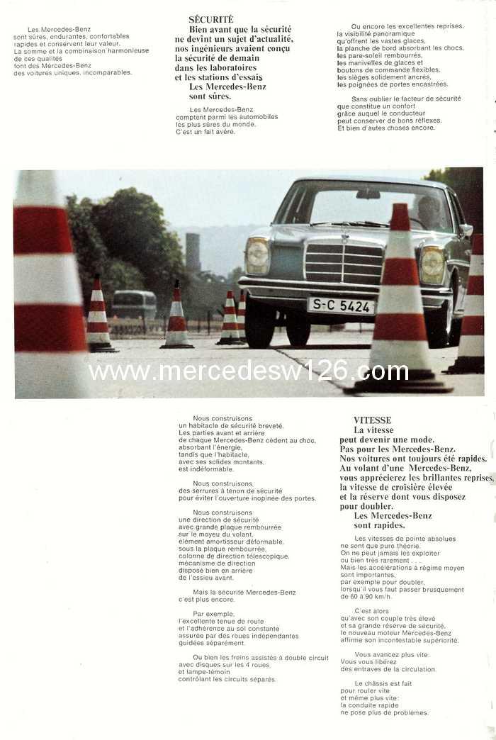 Catalogue de 1968 sur la Mercedes W115 200 W115_214