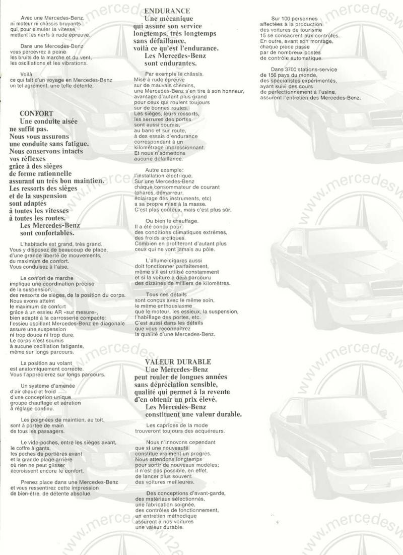 Catalogue de 1968 sur la Mercedes W115 200 W115_215