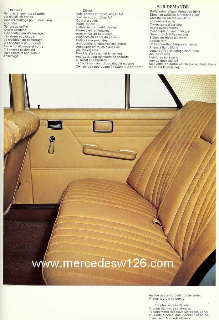Catalogue de 1968 sur la Mercedes W115 200 W115_216