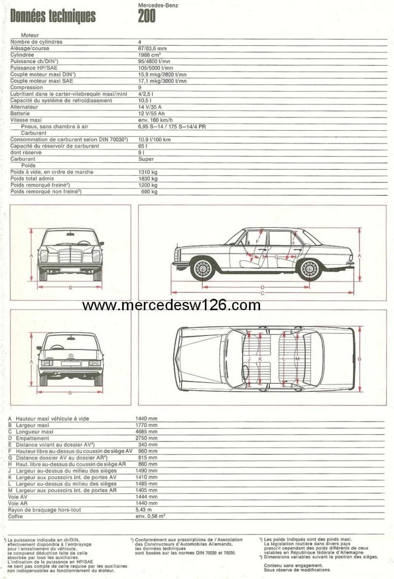 Catalogue de 1968 sur la Mercedes W115 200 W115_220