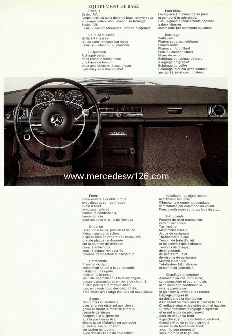Catalogue de 1968 sur la Mercedes W115 200 W115_221