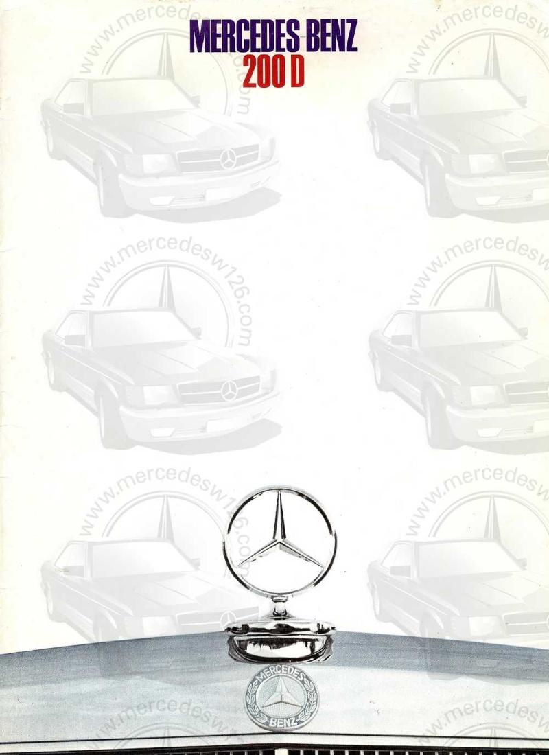 Catalogue de 1968 sur la Mercedes W115 200 D W115_222