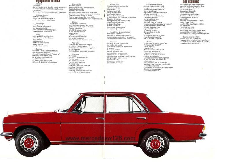 Catalogue de 1968 sur la Mercedes W115 200 D W115_223