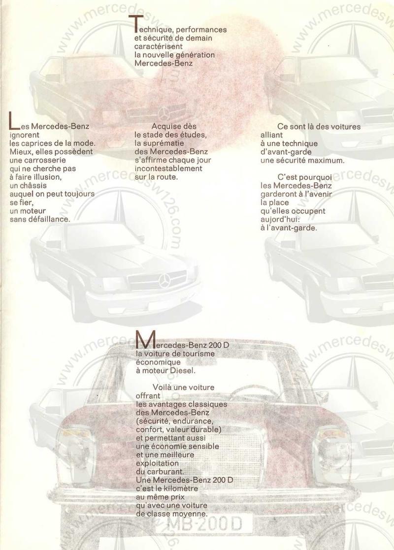 Catalogue de 1968 sur la Mercedes W115 200 D W115_224