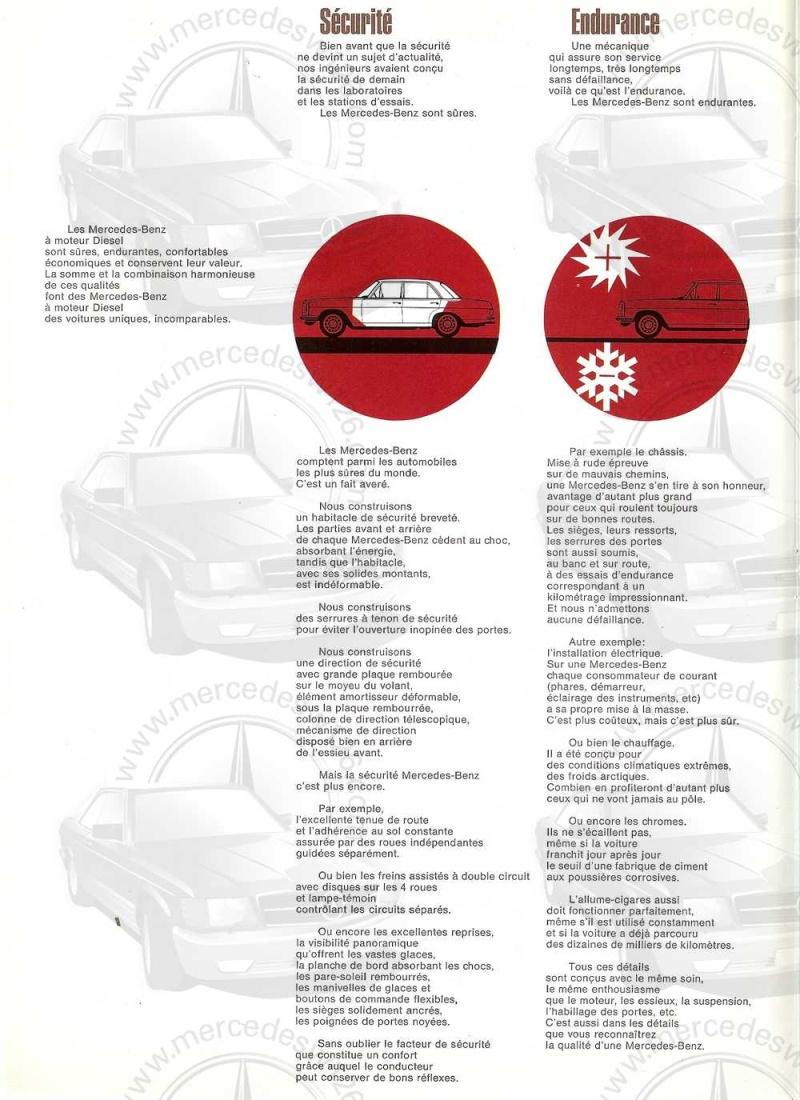 Catalogue de 1968 sur la Mercedes W115 200 D W115_225