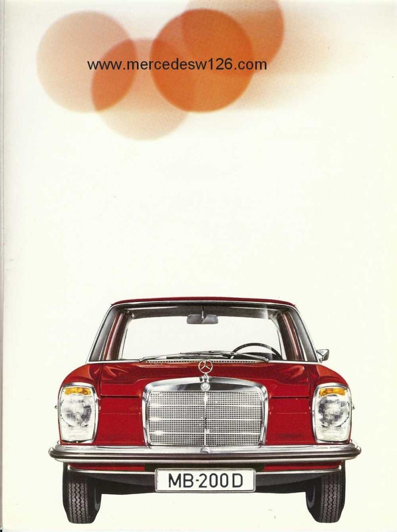 Catalogue de 1968 sur la Mercedes W115 200 D W115_226