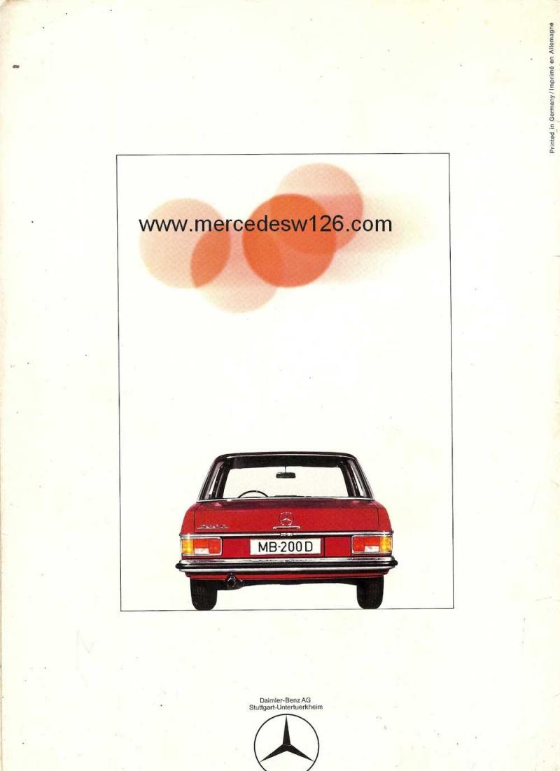 Catalogue de 1968 sur la Mercedes W115 200 D W115_227