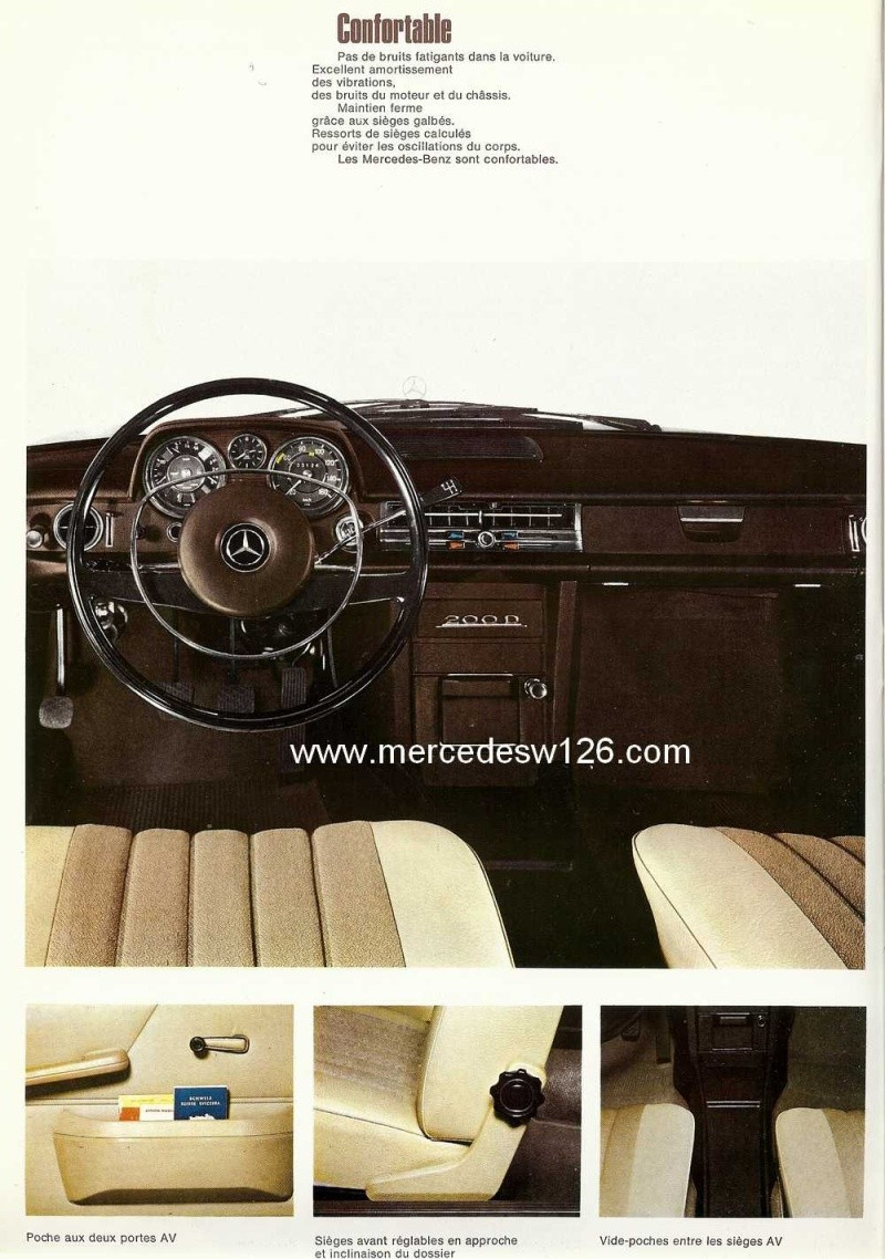 Catalogue de 1968 sur la Mercedes W115 200 D W115_230