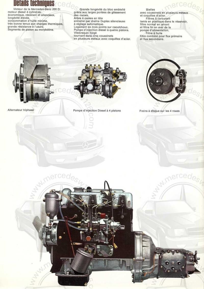 Catalogue de 1968 sur la Mercedes W115 200 D W115_231