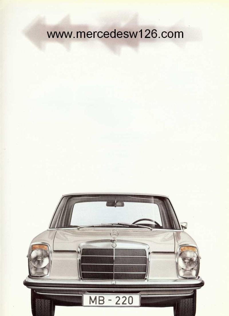 Catalogue de 1968 sur la Mercedes W115 220 W115_235