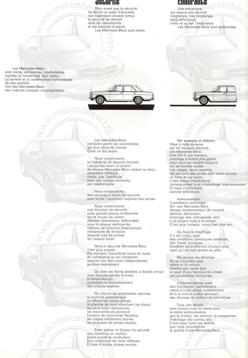 Catalogue de 1968 sur la Mercedes W115 220 W115_236