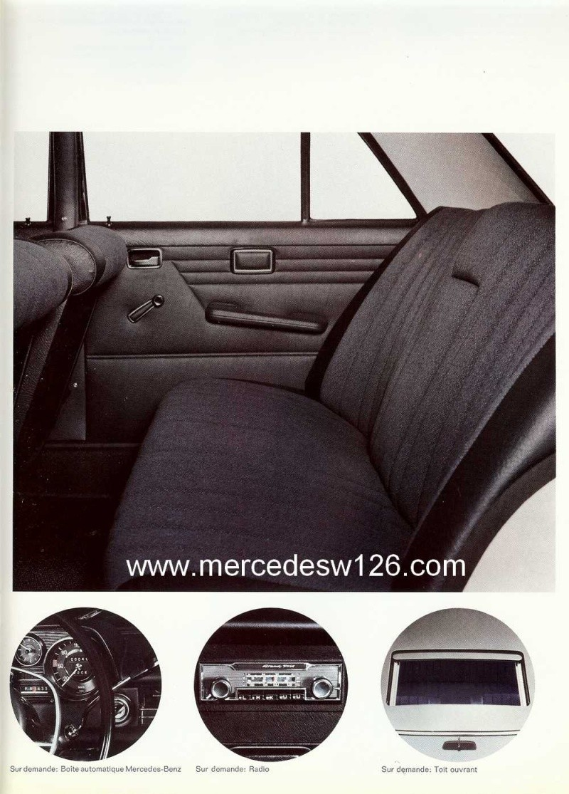 Catalogue de 1968 sur la Mercedes W115 220 W115_238