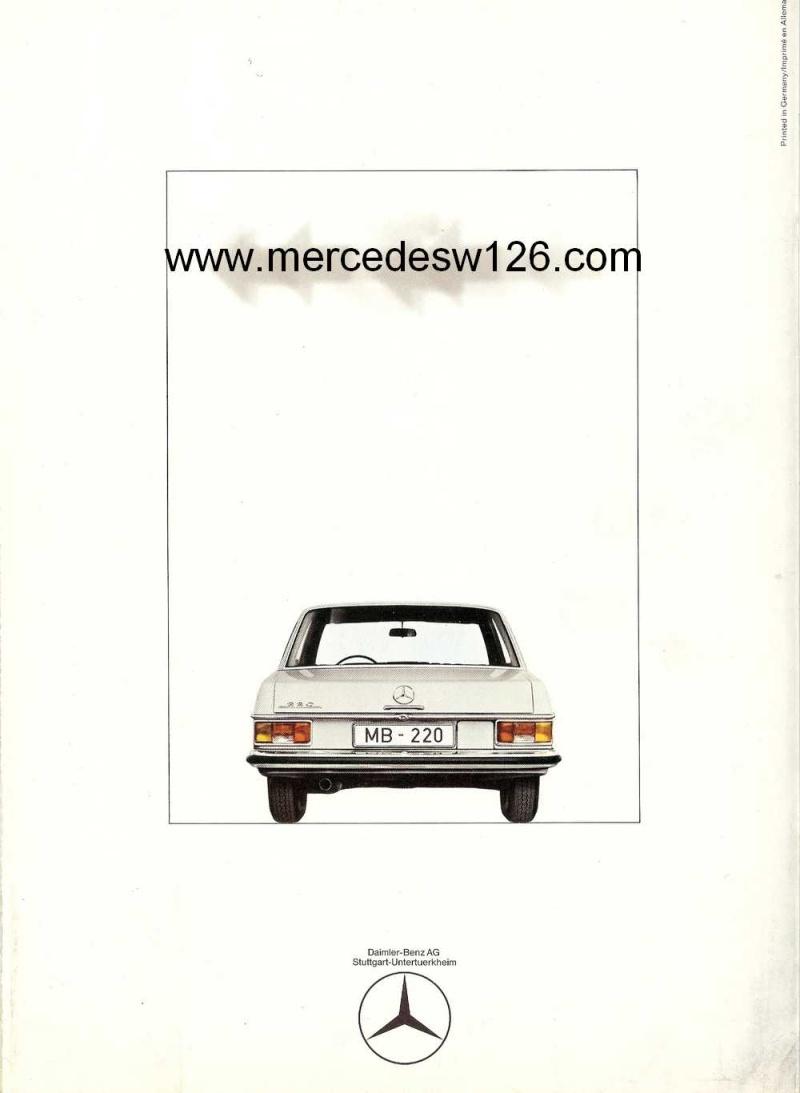 Catalogue de 1968 sur la Mercedes W115 220 W115_240