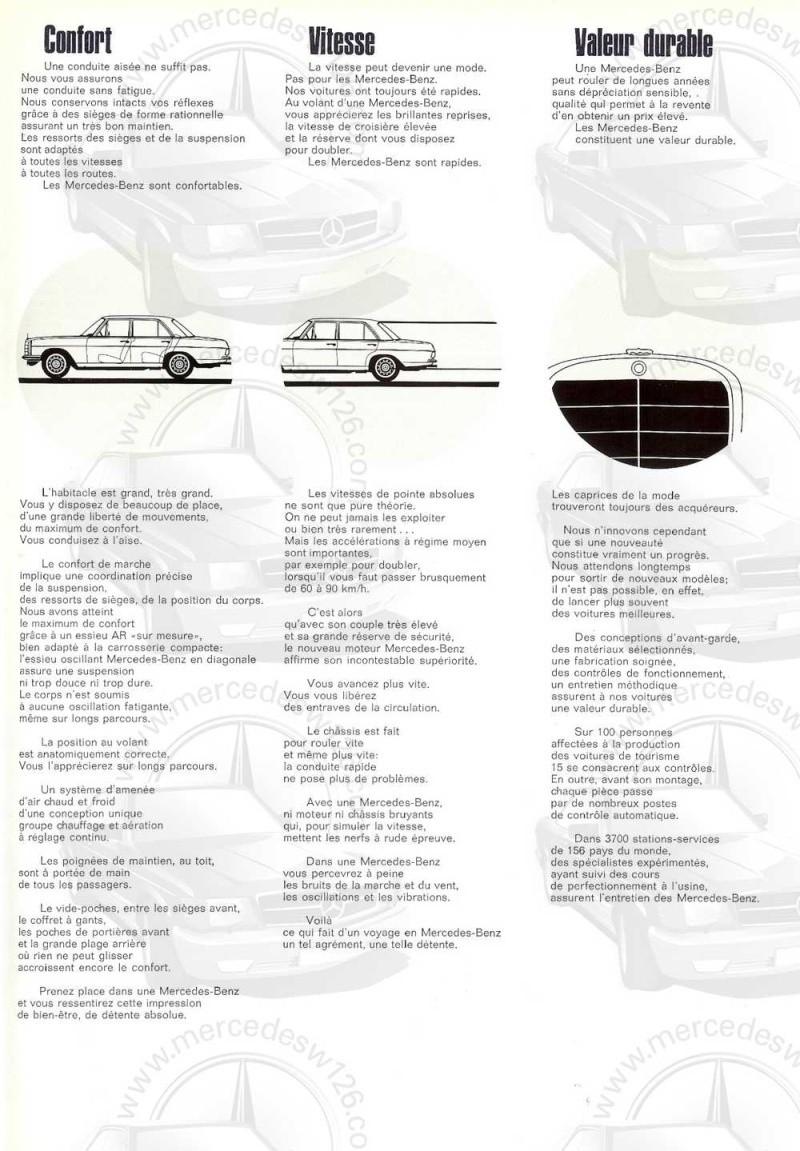Catalogue de 1968 sur la Mercedes W115 220 W115_242