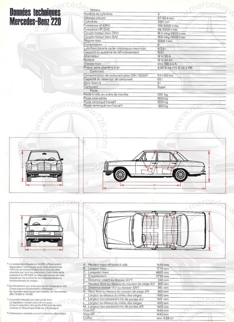 Catalogue de 1968 sur la Mercedes W115 220 W115_243