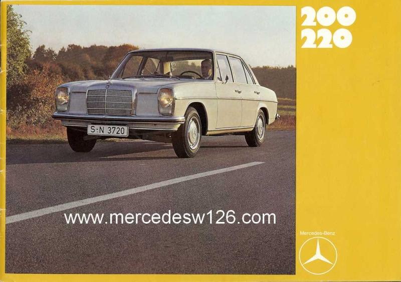 Catalogue de 1969 sur les W115 200 & 220 W115_244