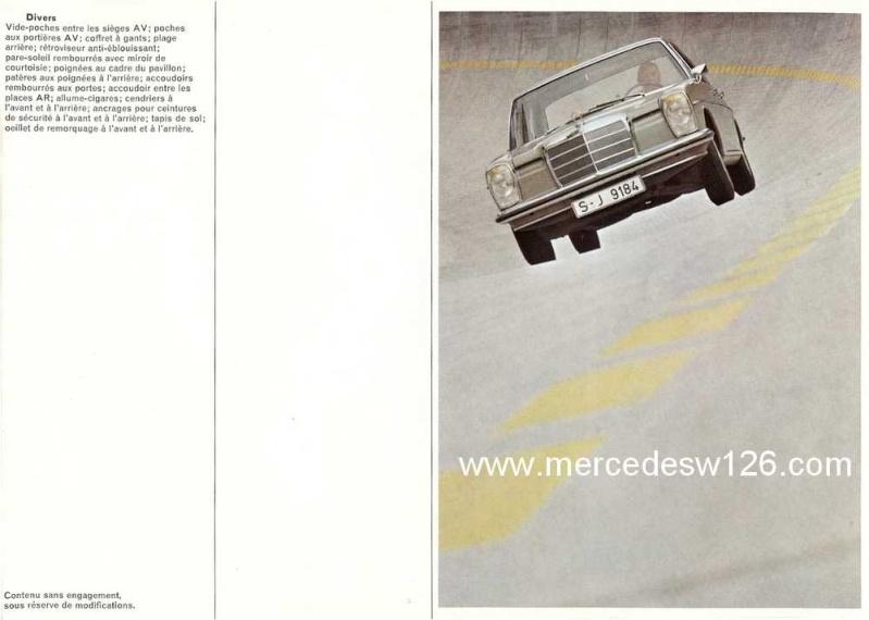Catalogue de 1969 sur les W115 200 & 220 W115_258