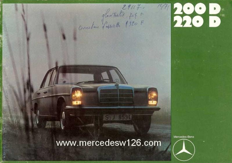 Catalogue de 1969 sur les W115 200 D & 220 D W115_267