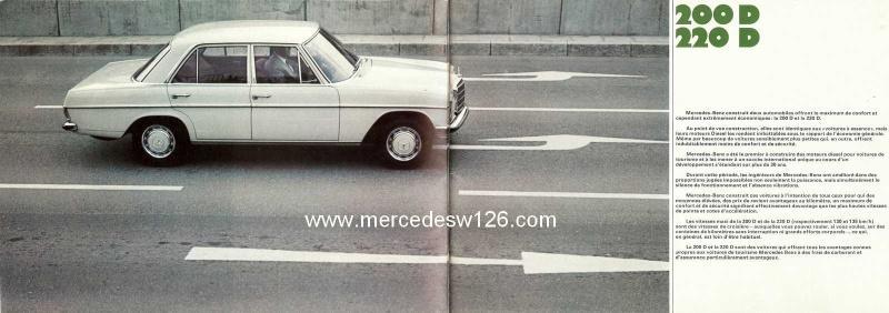 Catalogue de 1969 sur les W115 200 D & 220 D W115_271