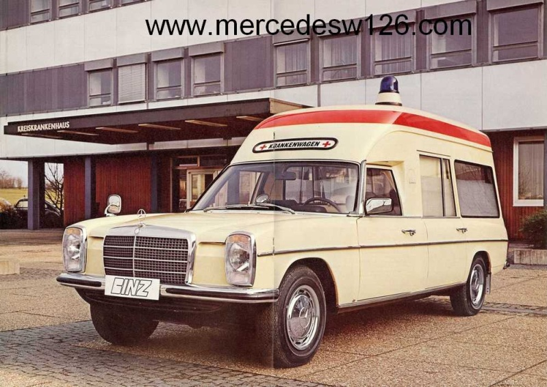 "Catalogue sur la Mercedes W115 ambulance ""Binz"" W115_b14"