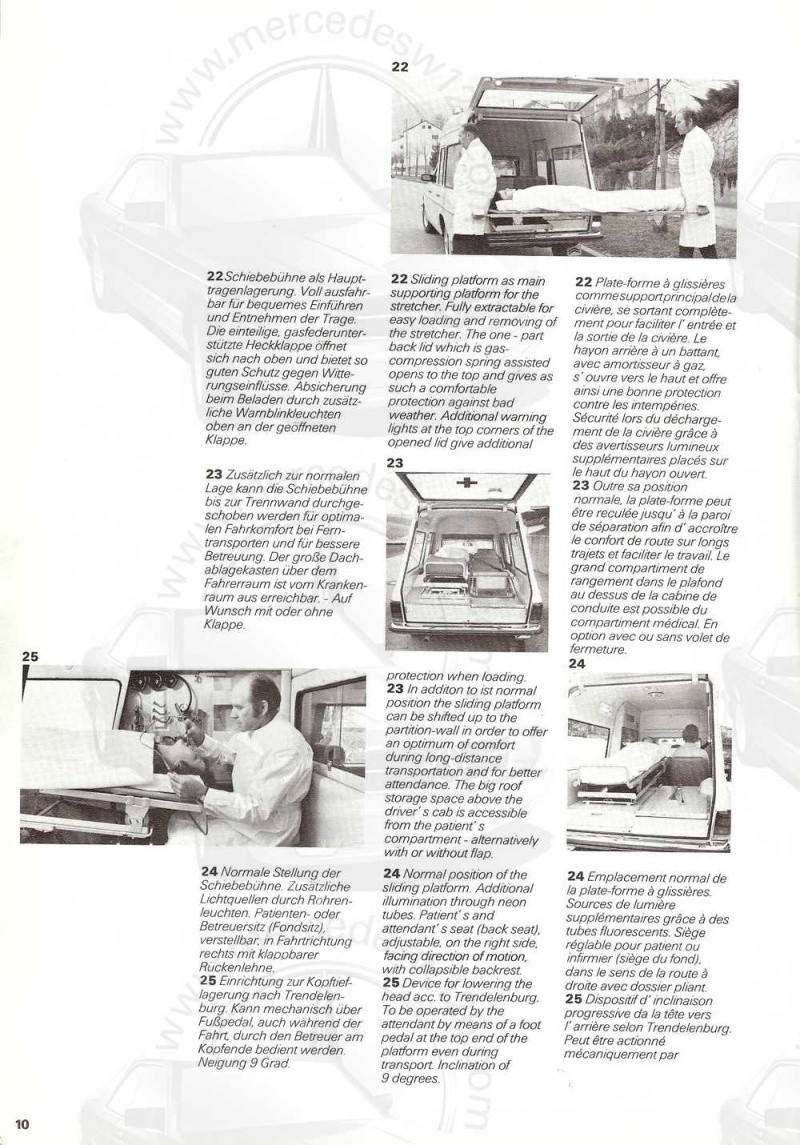 "Catalogue sur la Mercedes W115 ambulance ""Binz"" W115_b19"