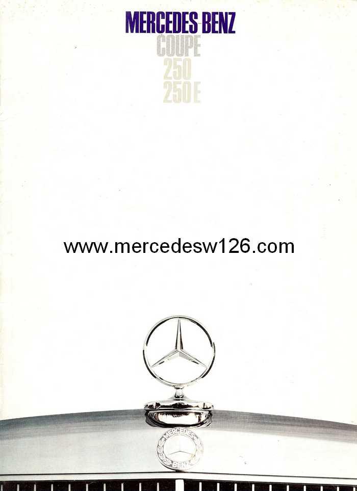 Catalogue de 1968 sur les coupés 250 C & CE W115_c10