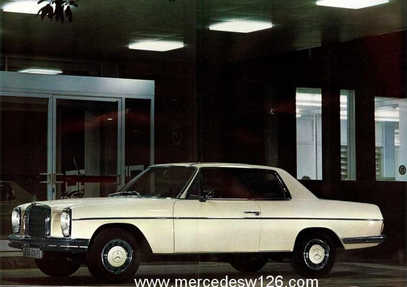 Catalogue de 1968 sur les coupés 250 C & CE W115_c13