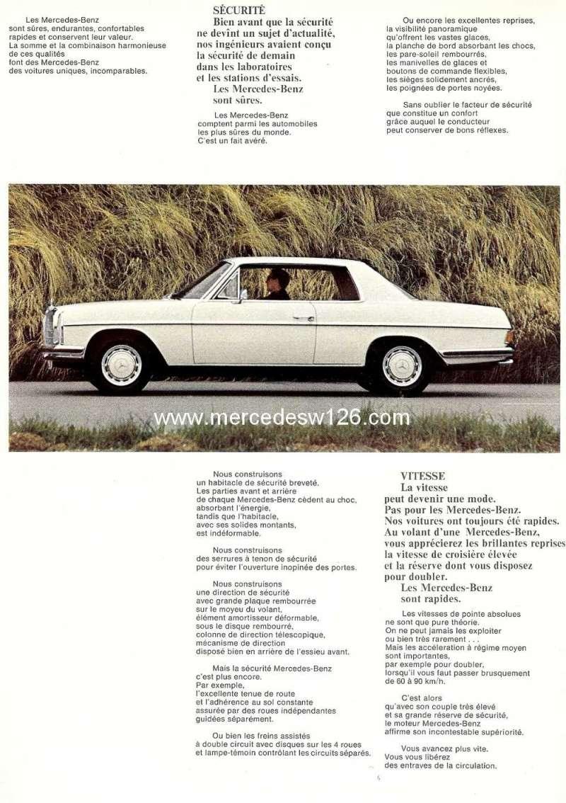 Catalogue de 1968 sur les coupés 250 C & CE W115_c14