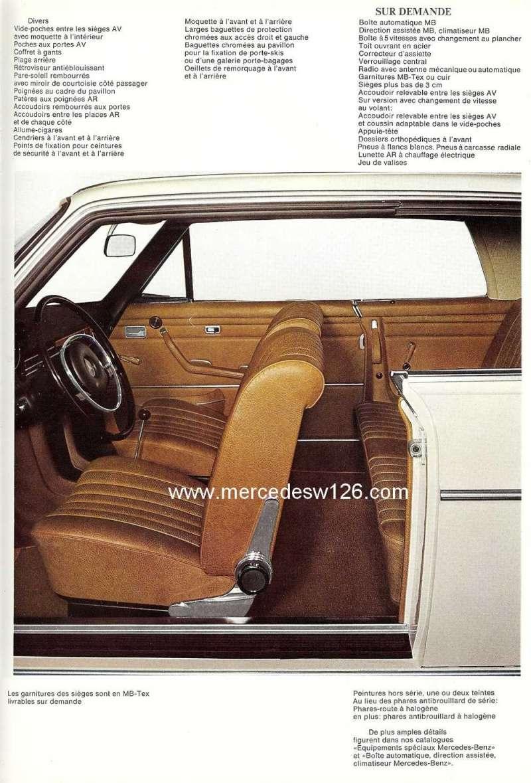 Catalogue de 1968 sur les coupés 250 C & CE W115_c15