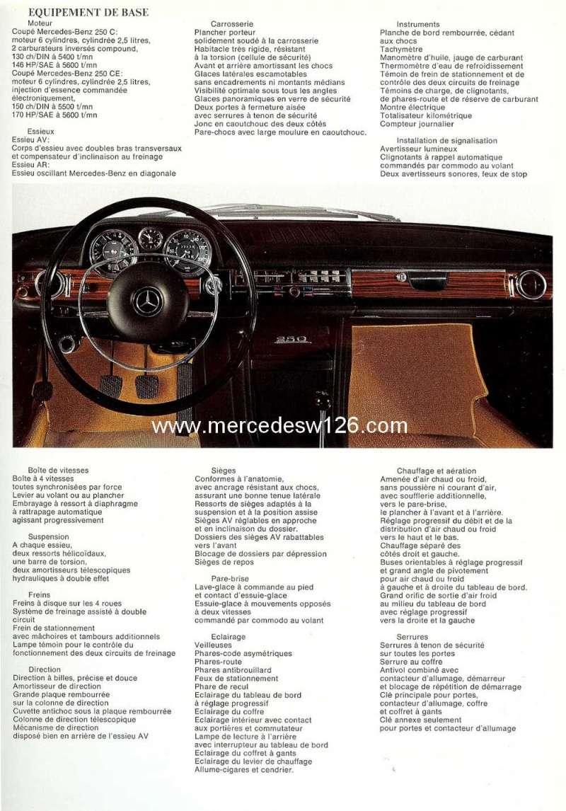Catalogue de 1968 sur les coupés 250 C & CE W115_c16