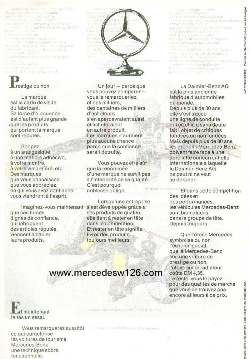 Catalogue de 1968 sur les coupés 250 C & CE W115_c19