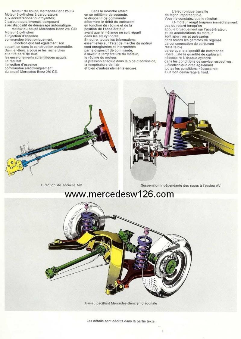 Catalogue de 1968 sur les coupés 250 C & CE W115_c21