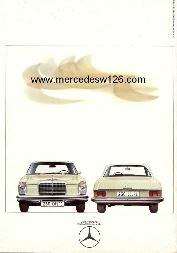 Catalogue de 1968 sur les coupés 250 C & CE W115_c22