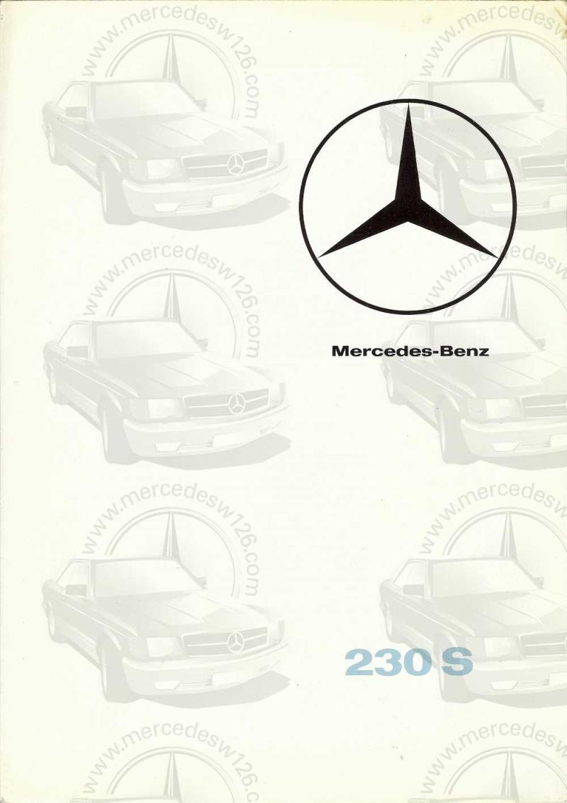 Catalogue de 1965 sur la Mercedes W111 230S W11_2310
