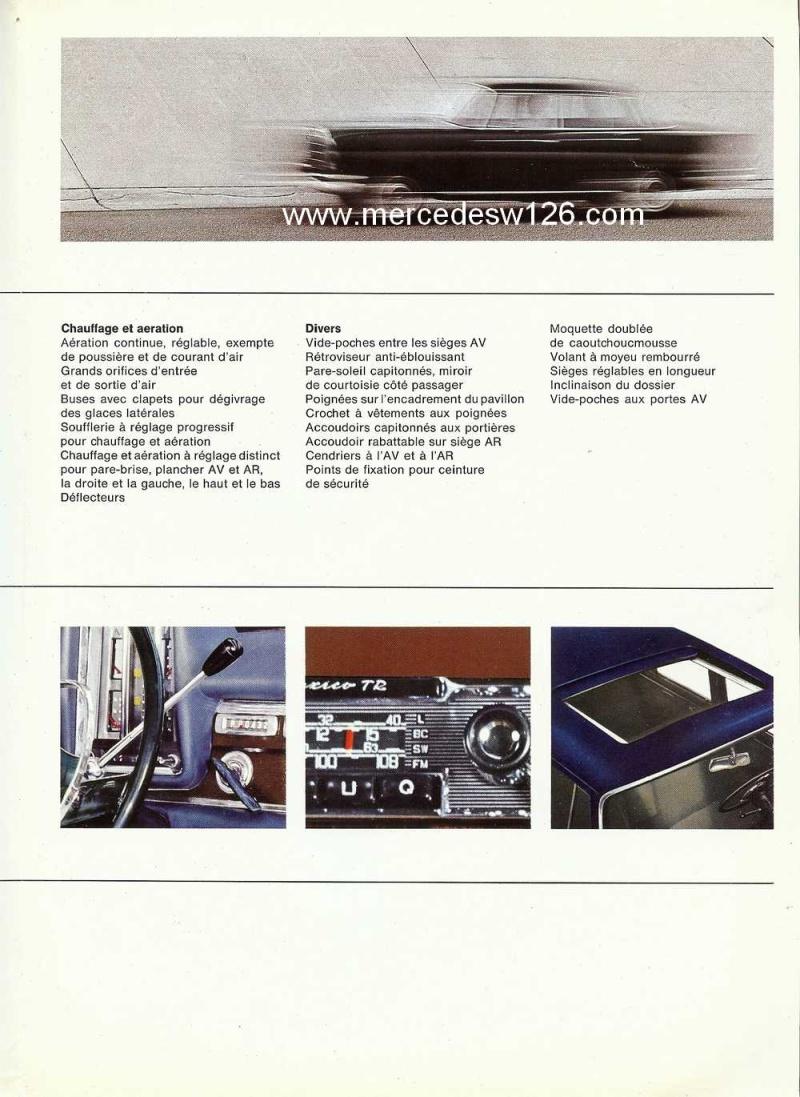 Catalogue de 1965 sur la Mercedes W111 230S W11_2315